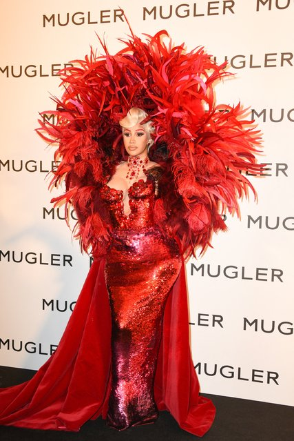 """Wap rapper Cardi B attends the """"Thierry Mugler : Couturissime"""" Photocall as part of Paris Fashion Week at Musee Des Arts Decoratifs on September 28, 2021 in Paris, France. (Photo by Mireille Ampilhac/Splash News and Pictures)"""