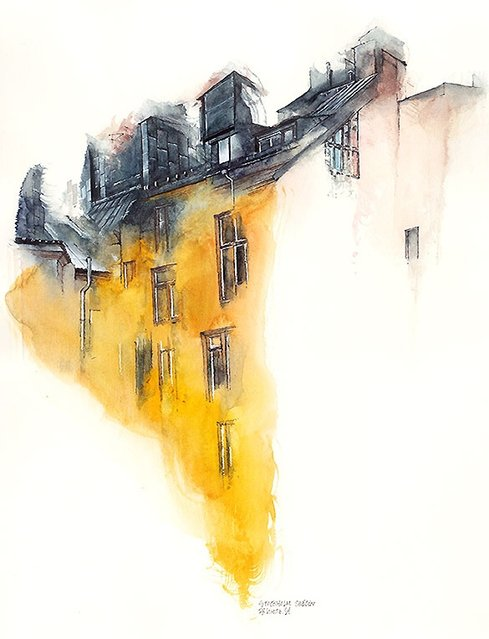 Architectural Watercolors By Sunga Park