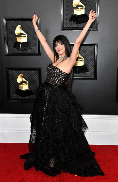 Camila Cabello attends the 62nd Annual GRAMMY Awards at Staples Center on January 26, 2020 in Los Angeles, California. (Photo by Amy Sussman/Getty Images)
