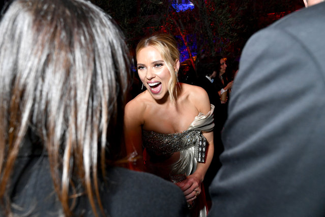 Scarlett Johansson attends the 2020 Vanity Fair Oscar Party hosted by Radhika Jones at Wallis Annenberg Center for the Performing Arts on February 09, 2020 in Beverly Hills, California. (Photo by Emma McIntyre/VF20/WireImage)