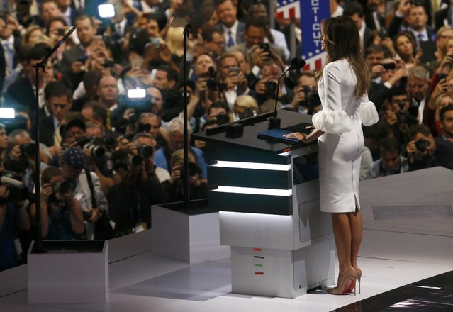 Melania Trump, wife of Republican U.S. presidential candidate Donald Trump, speaks at the Republican National Convention in Cleveland, Ohio, U.S. July 18, 2016. (Photo by Rick Wilking/Reuters)