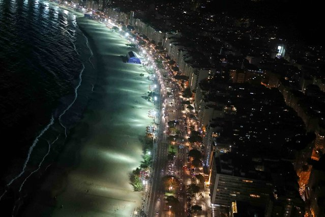 An aerial view of the Copacabana beach and neighborhood in Rio de Janeiro, Brazil, less than two weeks before the start of the Rio 2016 Olympic Games, July 23, 2016. (Photo by Pawel Kopczynski/Reuters)