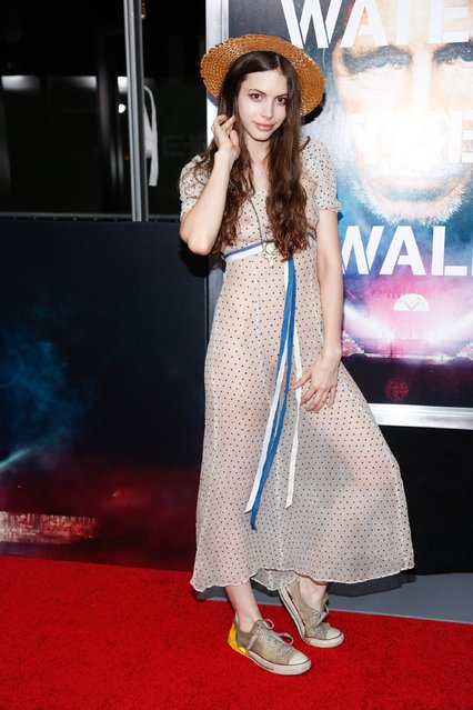 """Kemp Muhl attends the New York Premiere of """"Roger Waters The Wall"""" at Ziegfeld Theater on September 28, 2015 in New York City. (Photo by Rob Kim/Getty Images)"""