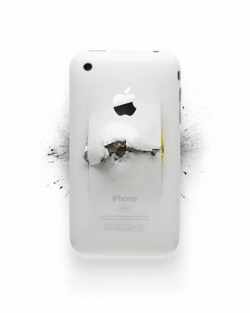 Artist Destroys Apple Products