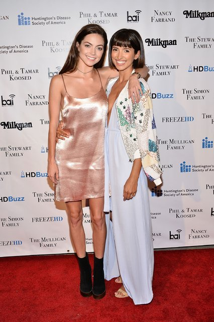 Caitlin Carver and India de Beaufort attend the 2nd Annual Freeze HD fundraiser to raise awareness for Huntington's Disease at Bootleg Theater on September 24, 2016 in Los Angeles, California. (Photo by Araya Diaz/Getty Images for Huntington's Disease Society of America)