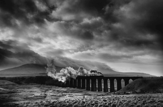 Ribblehead, North Yorkshire. Lines in the Landscape winner. Steam train crossing Ribblehead viaduct. (Photo by Brian Nunn/UK Landscape Photographer of the Year 2020)