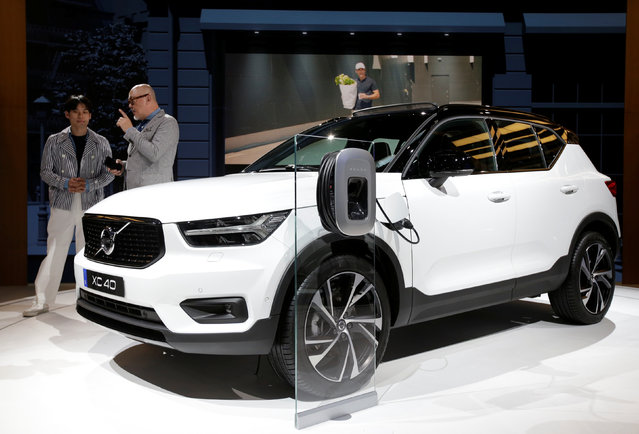 Volvo's new XC40 SUV is displayed during a media preview at the Auto China 2018 motor show in Beijing, China on April 25, 2018. (Photo by Jason Lee/Reuters)