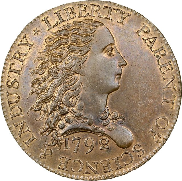 "The ""Birch Cent"", a 1792 United States penny, is shown in this publicity photo released to Reuters January 12, 2015.  A Beverly Hills rare coin dealer purchased a 1792 American penny for nearly $2.9 million, the most ever paid for a one-cent piece at auction. (Photo by Reuters/Heritage Auctions)"