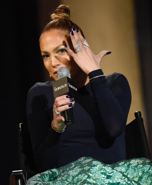 """Actress Jennifer Lopez attends AOL's BUILD Speaker Series to discuss her upcoming film """"The Boy Next Door"""" at AOL Studios on Wednesday, January 21, 2015, in New York. (Photo by Evan Agostini/Invision/AP Photo)"""
