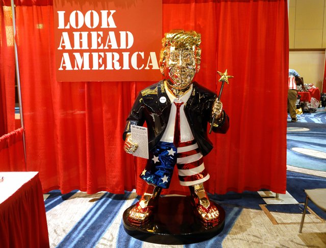 A statue of former U.S. President Donald Trump is pictured at the Conservative Political Action Conference (CPAC) in Orlando, Florida, U.S. February 26, 2021. (Photo by Octavio Jones/Reuters)