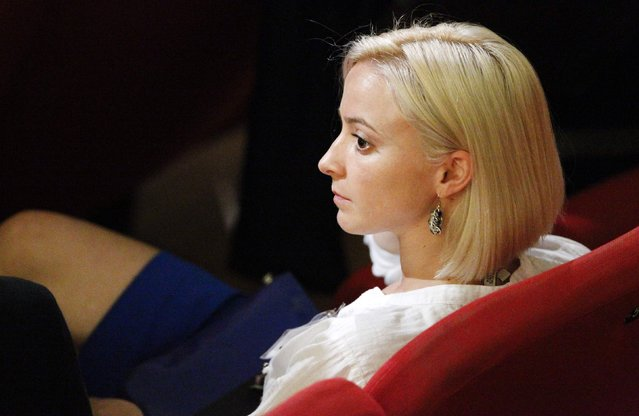 Domnica Cemortan of Moldova looks on during a trial in Grosseto, central Italy, in this July 17, 2013 file photo. (Photo by Giampiero Sposito/Reuters)
