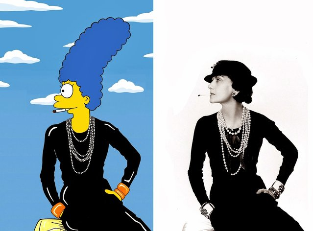 Marge Simpson as Coco Chanel.