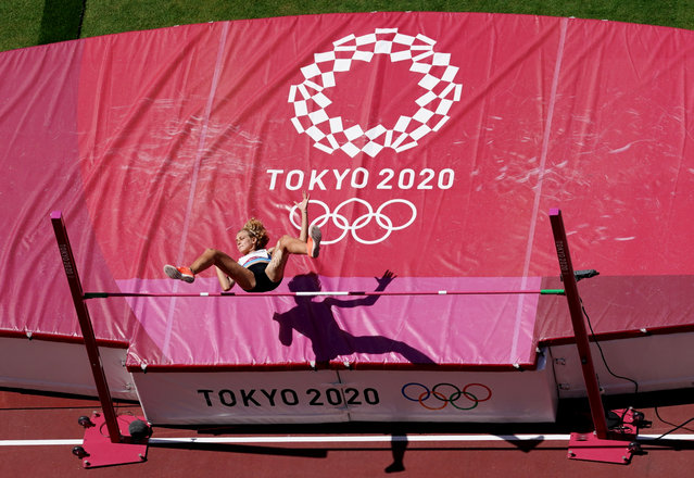 Kristina Ovchinnikova of Kazakhstan in action during the women's high jump qualification at Olympic Stadium in Tokyo, Japan on August 5, 2021. (Photo by Fabrizio Bensch/Reuters)