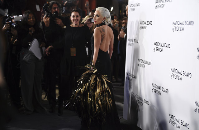 Lady Gaga attends the National Board of Review Awards gala at Cipriani 42nd Street on Tuesday, January 8, 2019, in New York. (Photo by Evan Agostini/Invision/AP Photo)