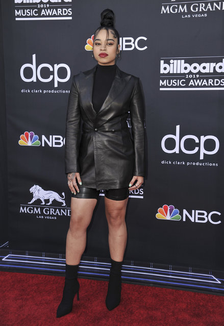 Ella Mai arrives at the Billboard Music Awards on Wednesday, May 1, 2019, at the MGM Grand Garden Arena in Las Vegas. (Photo by Richard Shotwell/Invision/AP Photo)