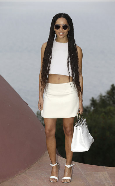 Actress Zoë Kravitz arrives at the Dior Resort 2015 catwalk show presented in Cannes, southeastern France, Monday, May 11, 2015. (Photo by Lionel Cironneau/AP Photo)