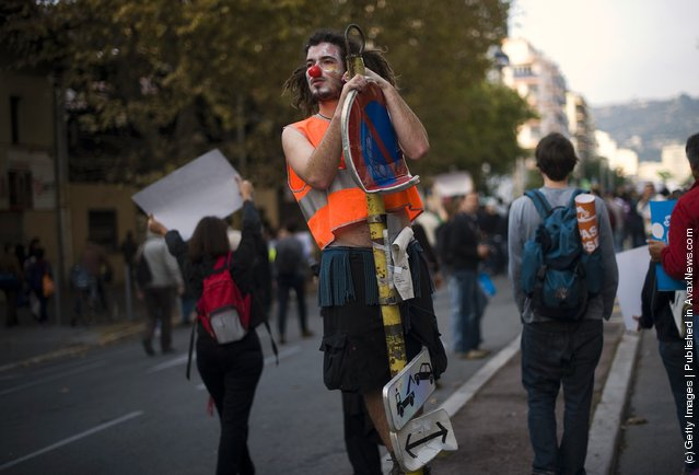 G20 Protesters Gather In Nice
