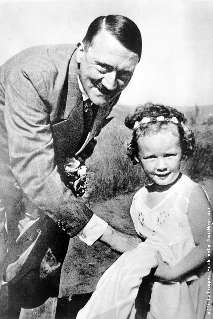 German dictator Adolf Hitler with a little girl, 1935