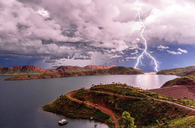 July. Lightning over Lake Argyle in the Kimberley, Western Australia. (Photo by Ben Broady/Australian Bureau of Meteorology)