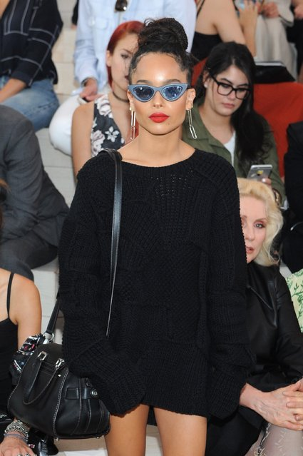 Zoe Kravitz attends the Coach Women's Spring 2016 fashion show during New York Fashion Week on September 15, 2015 in New York City. (Photo by Brad Barket/Getty Images for Coach)