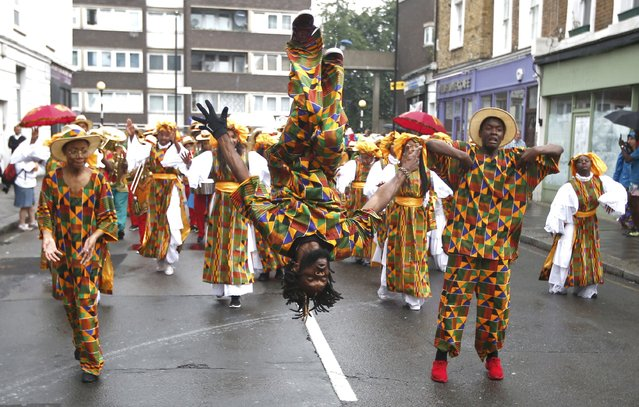 Performers participate in the children's day parade at the Notting Hill Carnival in London, Britain August 28, 2016. (Photo by Peter Nicholls/Reuters)