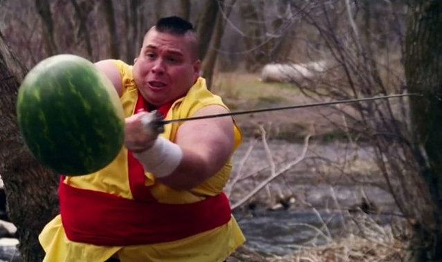 Fruit Ninja In Real Life
