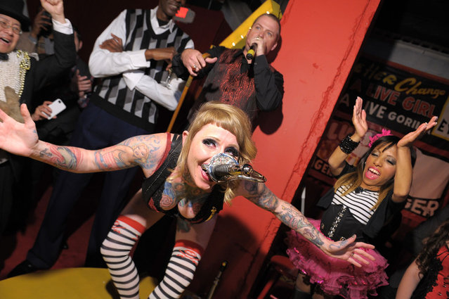 Brianna Belladonna  performs at Immortal Love Pop-up Experience – Freakshow & Immortalized on February 7, 2013 in New York City. (Photo by Michael Loccisano/AMC)