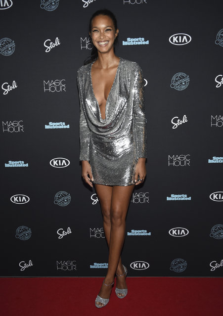 Lais Ribeiro attends the Sports Illustrated Swimsuit Issue launch party at Magic Hour at Moxy NYC Times Square on Wednesday, February 14, 2018, in New York, USA. (Photo by Evan Agostini/Invision/AP Photo)