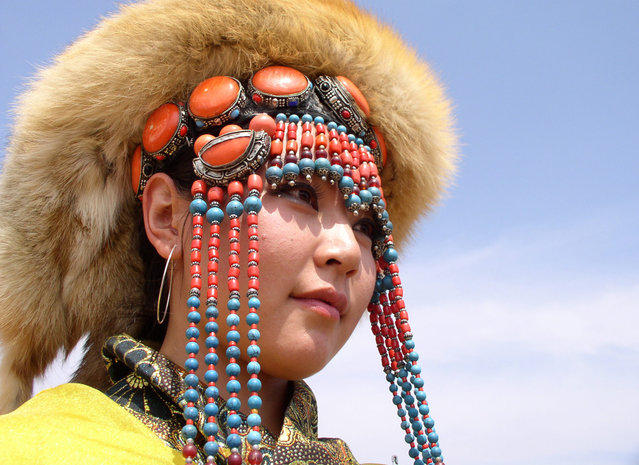 Mongolian woman from Gegentala, Inner Mongolia. (Photo by Tom Carter/The Atlantic)