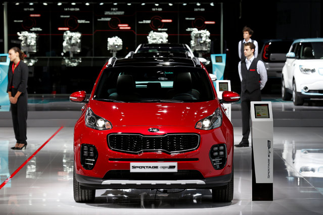 The Kia Sportage GT Line is displayed on media day at the Paris auto show, in Paris, France, September 29, 2016. (Photo by Benoit Tessier/Reuters)