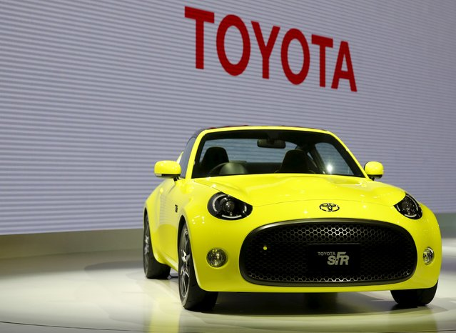 Toyota Motor Corp's S-FR concept car is seen at the 44th Tokyo Motor Show in Tokyo, Japan, October 28, 2015. (Photo by Toru Hanai/Reuters)