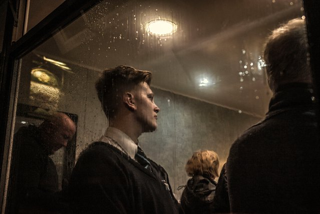 Luke, Gaskell's of Wigan by Guardian photographer Sarah Lee – shortlisted image. Punters queue up for fish and chips at Gaskell's. This shot comes from the series Nighthawks at the Diner, which accompanied an Observer Food Monthly article about Friday night takeaway habits. (Photo by Sarah Lee/Taylor Wessing Portrait Prize 2015)