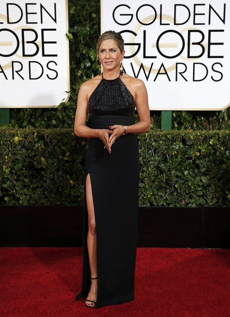 Actress Jennifer Aniston arrives at the 72nd Golden Globe Awards in Beverly Hills, California January 11, 2015. (Photo by Mario Anzuoni/Reuters)