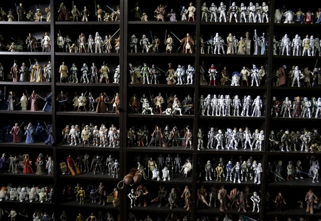 A collection of Star Wars toys is seen in the home of its owner Pablo Perez (not pictured) in Monterrey, Mexico December 12, 2015. (Photo by Daniel Becerril/Reuters)