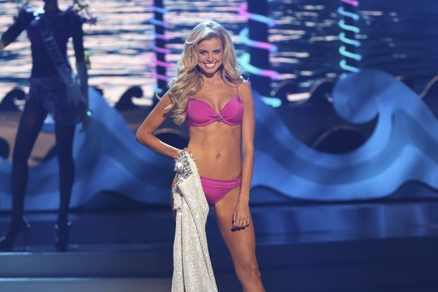 Miss Australia Tegan Martin onstage during The 63rd Annual Miss Universe Pageant at Florida International University on January 25, 2015 in Miami, Florida. (Photo by Alexander Tamargo/Getty Images)