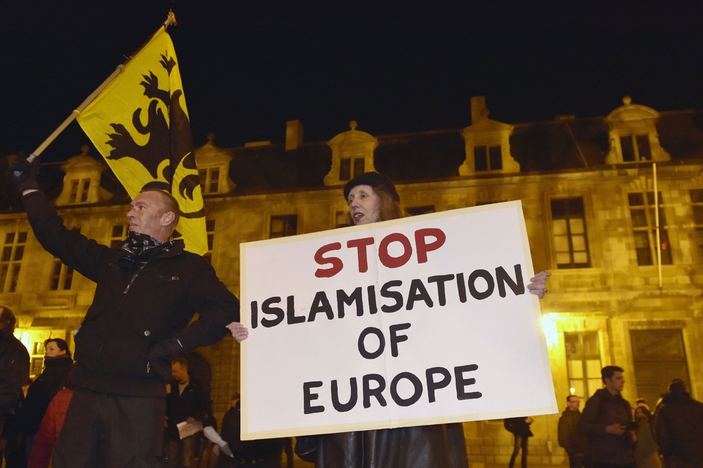 PEGIDA (Patriotic Europeans Against the Islamisation of the West) protests in Belgium