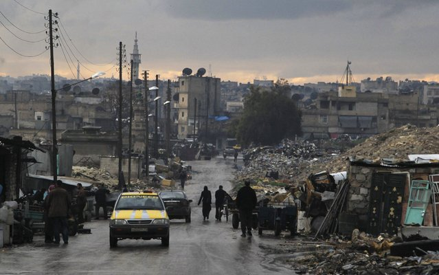 A general view shows a street in a rebel-held area of Aleppo January 6, 2015. (Photo by Jalal Al-Mamo/Reuters)