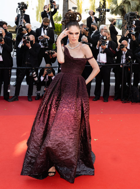 """Canadian model Coco Rocha attends the """"Aline, The Voice Of Love"""" screening during the 74th annual Cannes Film Festival on July 13, 2021 in Cannes, France. (Photo by Samir Hussein/WireImage)"""