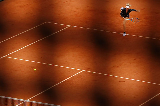 Amanda Anisimova of the U.S. is seen during her semifinal match against Australia's Ashleigh Barty in Paris, France on June 7, 2019. (Photo by Kai Pfaffenbach/Reuters)