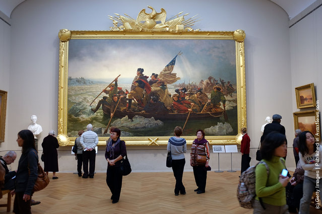 People visit the new American Wing for paintings, sculpture and decorative arts at the Metropolitan Museum of Art