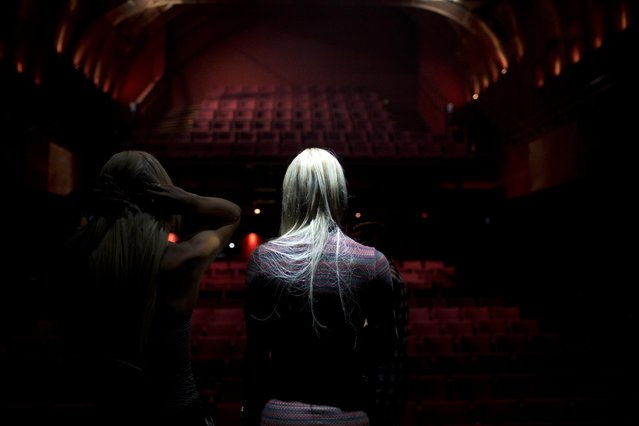 In this Thursday, May 26, 2016 photo, contestants in the first Miss Trans Israel beauty pageant practice the walk on the stage during rehearsal in Tel Aviv, Israel. (Photo by Oded Balilty/AP Photo)