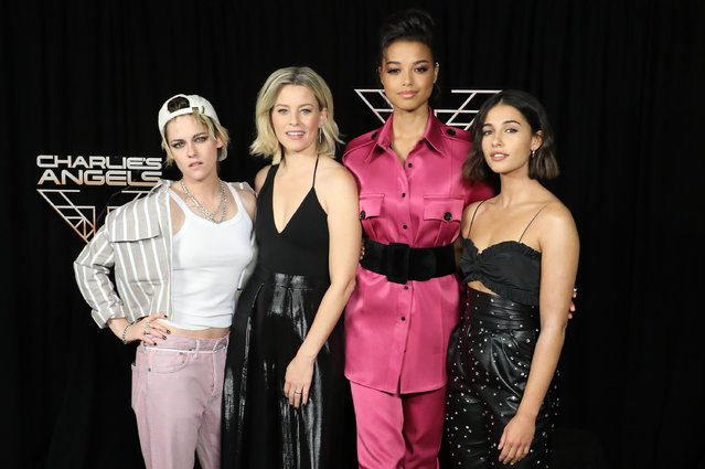 "Kristen Stewart, Elizabeth Banks, Ella Balinska, and Naomi Scott attend a photocall for ""Charlie's Angels"" at the Whitby Hotel on November 07, 2019 in New York City. (Photo by Taylor Hill/WireImage)"
