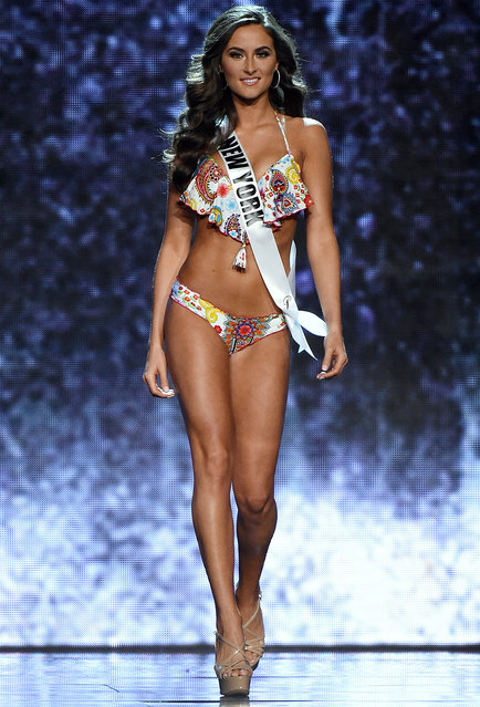 Miss New York USA Serena Bucaj competes in the swimsuit competition during the 2016 Miss USA pageant preliminary competition at T-Mobile Arena on June 1, 2016 in Las Vegas, Nevada. (Photo by Ethan Miller/Getty Images)
