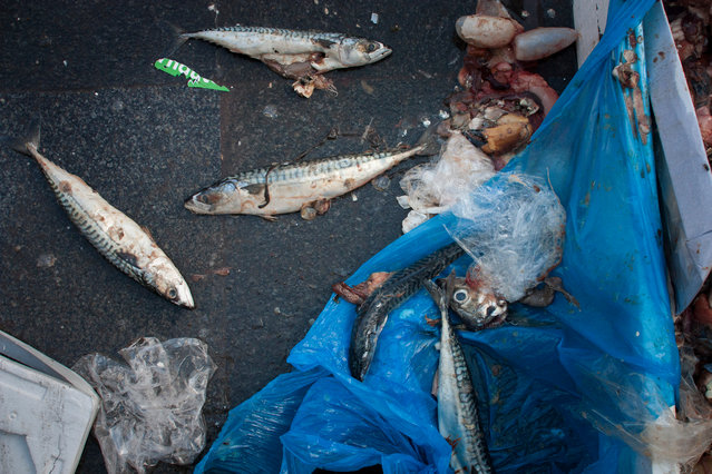 Leftovers at the Albert Cuyp market. (Photo by by Julie Hrudova/The Guardian)