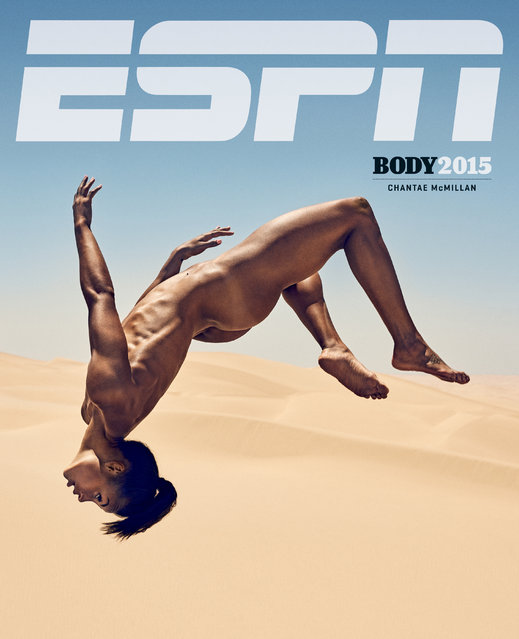 Chantae McMillan in ESPN's The Body Issue 2015. ESPN The Magazine's The Body Issue set out seven years ago with one mission: to celebrate and explore the athletic form through powerful images and interviews. The cornerstone of each annual issue is The Bodies We Want photo portfolio, which features roughly 20 of the world's most elite athletes posing nude. (Photo by Carlos Serrao for ESPN The Magazine)