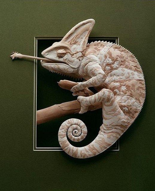 Paper Sculpture by Calvin Nicholls