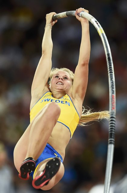 Michaela Meijer of Sweden competes in the women's pole vault final during the 15th IAAF World Championships at the National Stadium in Beijing, China, August 26, 2015. (Photo by Dylan Martinez/Reuters)
