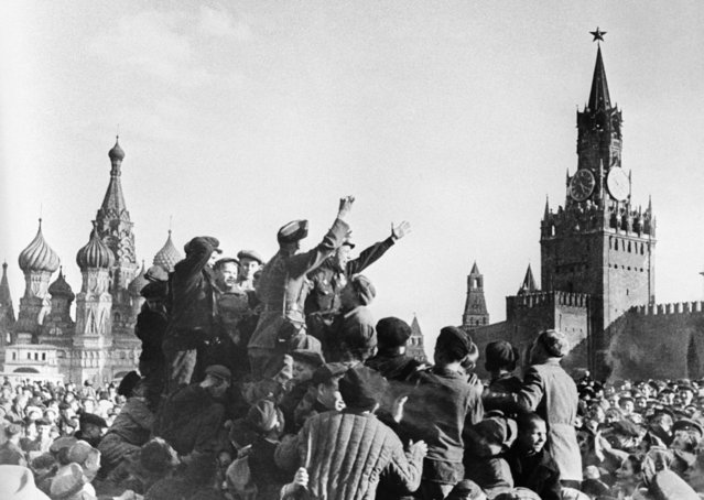 Victory Day in Red Square in Moscow, USSR on 9th of May 1945. (Photo by Boris Kudoyarov/ TASS)