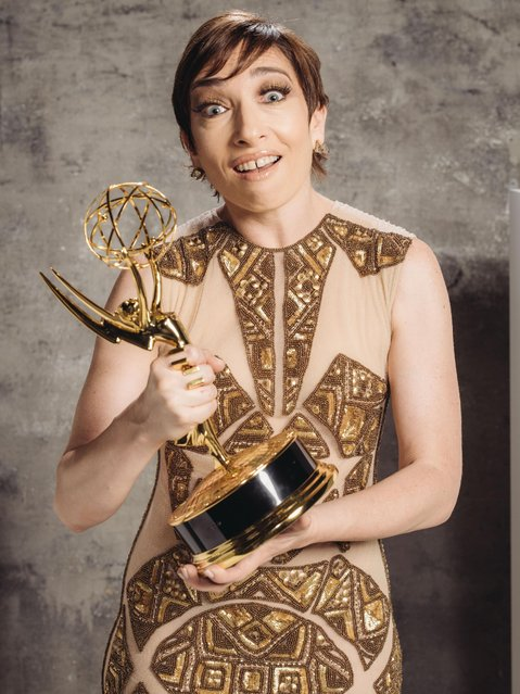 Naomi Grossman poses for a portrait at the Television Academy's 67th Emmy Awards Performers Nominee Reception at the Pacific Design Center on Saturday, September 19, 2015 in West Hollywood, Calif. (Photo by Casey Curry/Invision for the Television Academy/AP Images)