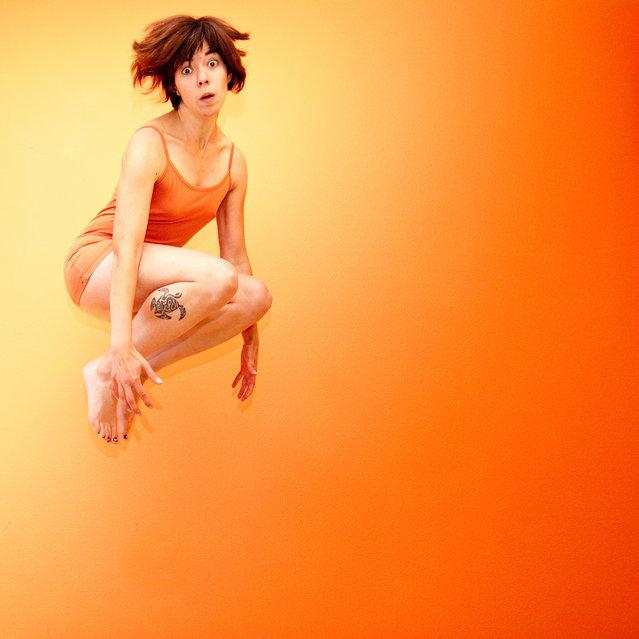 """Jumpology"". ""Orange You Glad..."". (Photo by Christine Heidel)"
